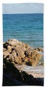 Rocky Shoreline Beach Towel