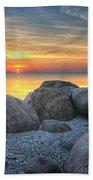 Rocky Sunset Beach Towel