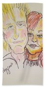 Rod Stewart And Cyndi Lauper Tour 2017 Beach Towel