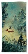 Roe Deers In September Morning Light Beach Towel