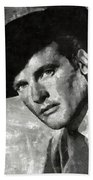 Roger Moore Hollywood Actor Beach Towel