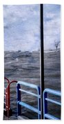 Rolling Waves In Winter At Grand Haven Beach Towel