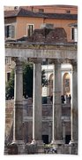 Roman Columns Beach Towel