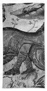 Roman Mosaic: Man & Horse Beach Towel
