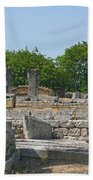 Roman Ruins Near St. Remy In Provence Beach Towel