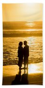 Romantic Beach Silhouette Beach Towel