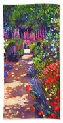 Romantic Garden Walk Beach Towel