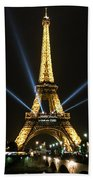 Romantic Night In Paris Beach Towel
