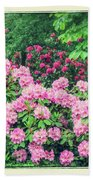 Romantic Rhododendrons Beach Towel