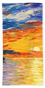 Romantic Sea Sunset Beach Towel