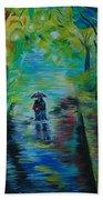 Romantic Stroll Beach Towel