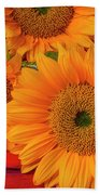 Romantic Sunflowers Beach Towel