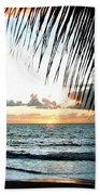 Romantic Sunset Beach Towel