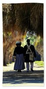 Romantic Walk 1870 Beach Towel
