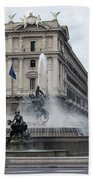 Rome Italy Fountain  Beach Towel