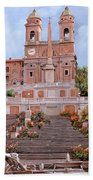 Rome-piazza Di Spagna Beach Towel