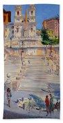 Rome Piazza Di Spagna Beach Towel