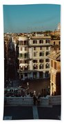 Rome Spanish Steps View Beach Towel
