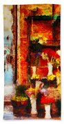 Rome Street Colors Beach Sheet by Stefano Senise
