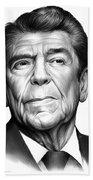 Ronald Reagan Beach Sheet