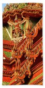 Roof Of Buddhist Temple In Thailand Beach Towel