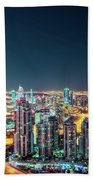 Rooftop Perspective Of Downtown Dubai Beach Towel