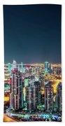 Rooftop Perspective Of Downtown Dubai Beach Sheet