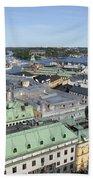Rooftops Of Stockholm Beach Towel