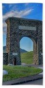 Roosevelt Arch At Yellowstone Dsc2522_05252018 Beach Towel