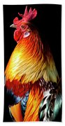 Rooster Portrait Beach Towel