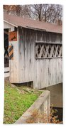 Root Rd Covered Bridge  Beach Towel