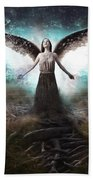 Rooted Angel Beach Towel