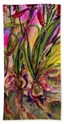 Roots In Pink Beach Towel