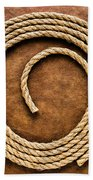 Rope On Leather Beach Towel