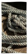 Rope On The Dock Beach Towel
