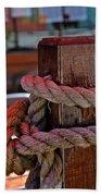 Rope On Wood Beach Towel
