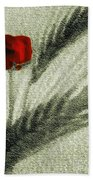 Rosa Roja Beach Towel