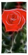 Rose-5879-fractal Beach Towel