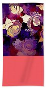 Rose Abstract Beach Towel