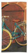 Rose And Bicycle Beach Towel