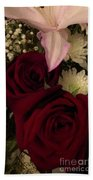 Rose And Lily Beach Towel