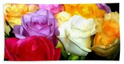 Rose Bouquet Painting Beach Towel