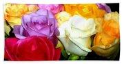 Rose Bouquet Painting Beach Sheet