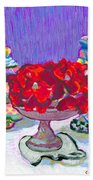 Rose Covered Cake Beach Towel