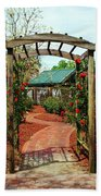 Rose Garden Entrance Beach Towel