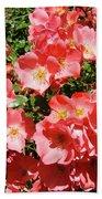 Rose Garden Pink Roses Botanical Landscape Baslee Troutman Beach Sheet