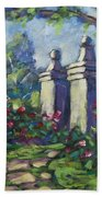 Rose Garden Beach Towel