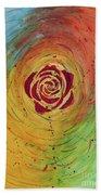 Rose In Vorteks Beach Towel