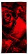 Furious Rose Magic Red Beach Towel