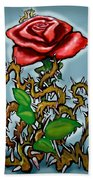 Rose N Thorns Beach Towel